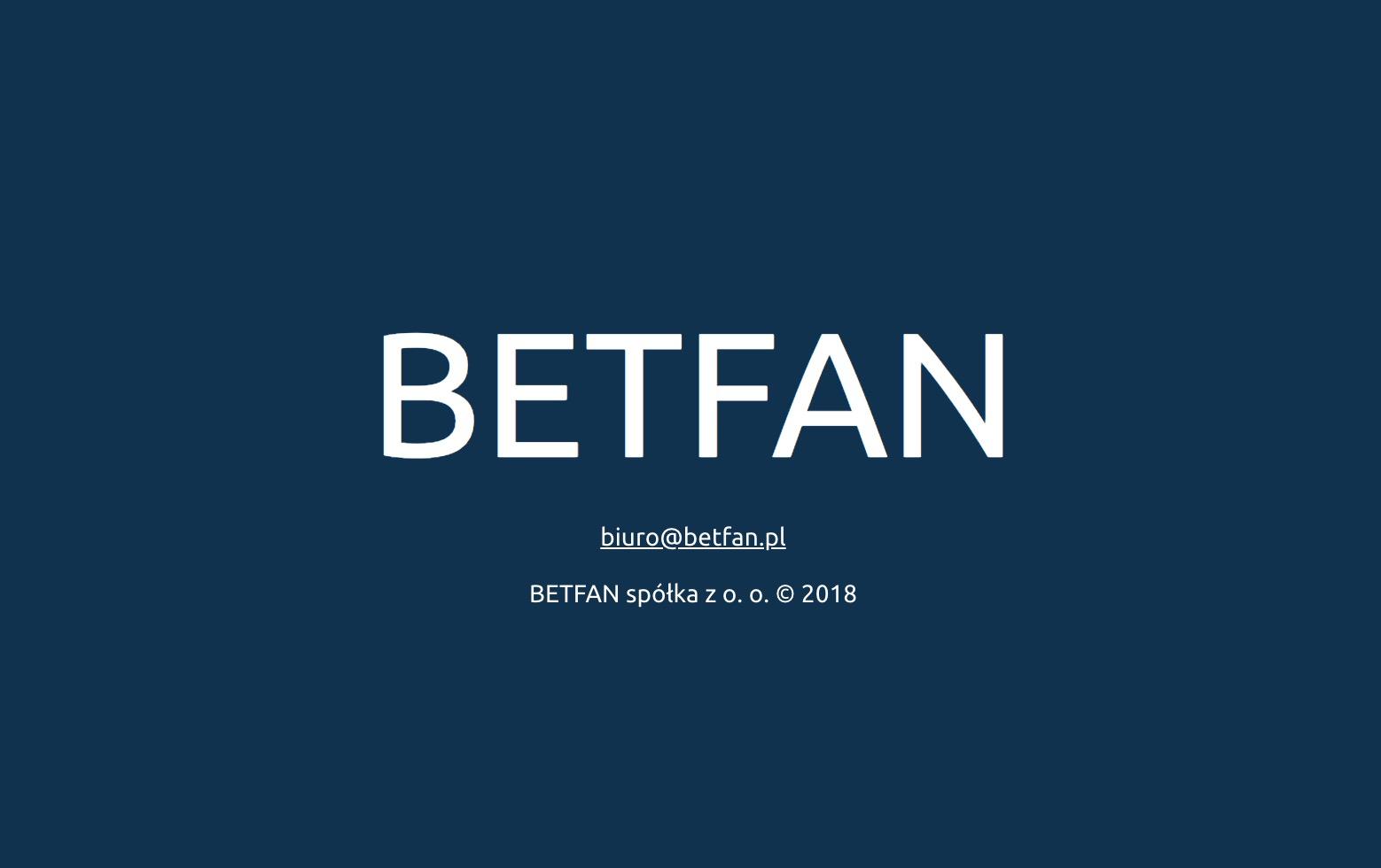 Legalny bukmacher Betfan 2019