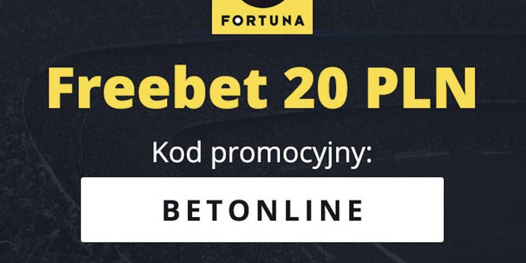 Bukmacher legalny Fortuna. Kod na freebet 20 PLN!