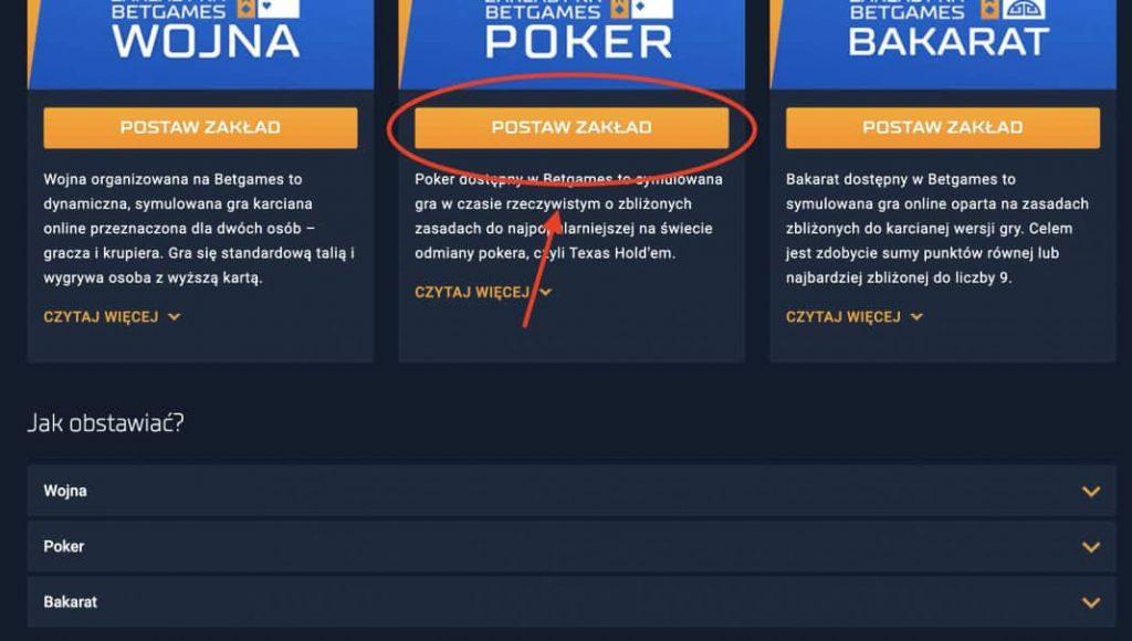 Granie w pokera w STS. Krok 2